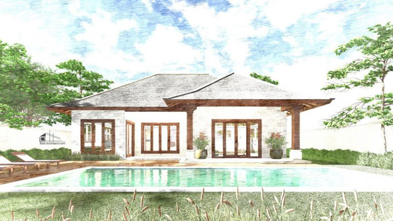 Architectural 3D Rendering Project Villa in Amed