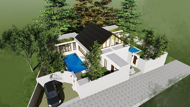 Architecture Project 2 villas in Umalas Bali